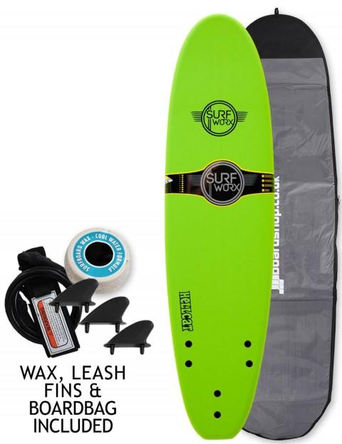 Surfworx Hellcat Mini Mal soft surfboard package 7ft 0 - Apple Green