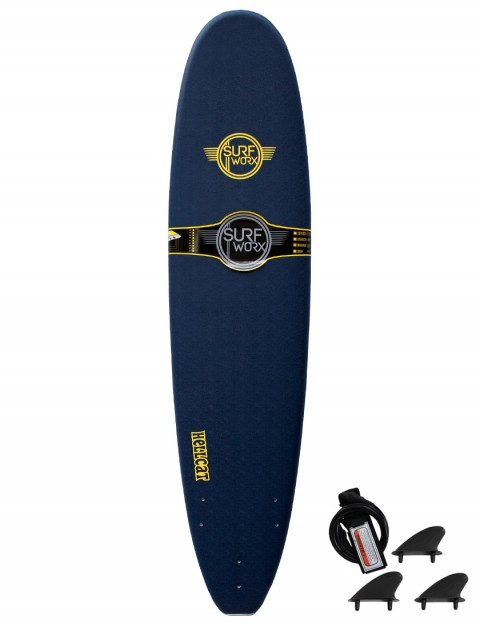 Surfworx Hellcat Mini Mal soft surfboard 8ft 0 - Midnight Blue