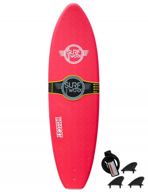 Surfworx Hellcat Mini Mal soft surfboard 6ft 0 - Red