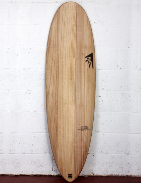 Firewire Timbertek Greedy Beaver Surfboard 6ft 10 Futures - Natural Wood