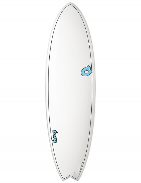 Torq Mod Fish surfboard 6ft 10 - White/Carbon Strip