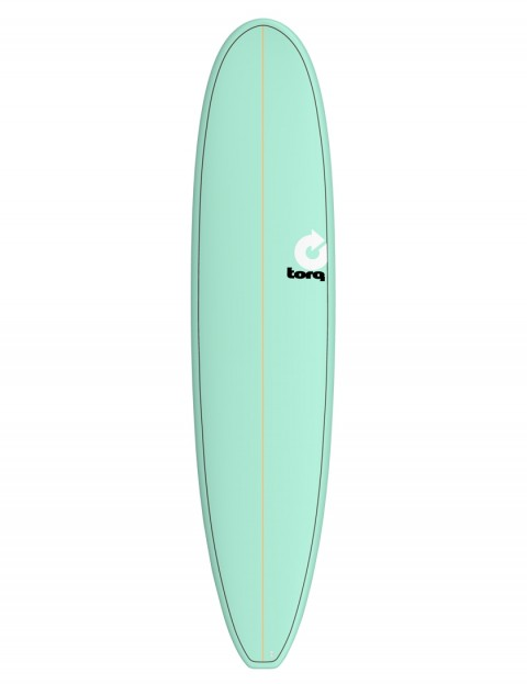 Torq Longboard surfboard 8ft 6 - Sea Green/Pinline