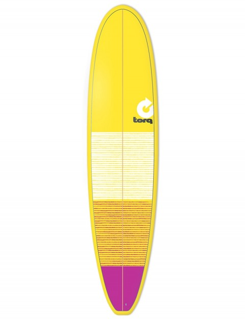 Torq Mini Long surfboard 8ft 0 - Yellow/Pink