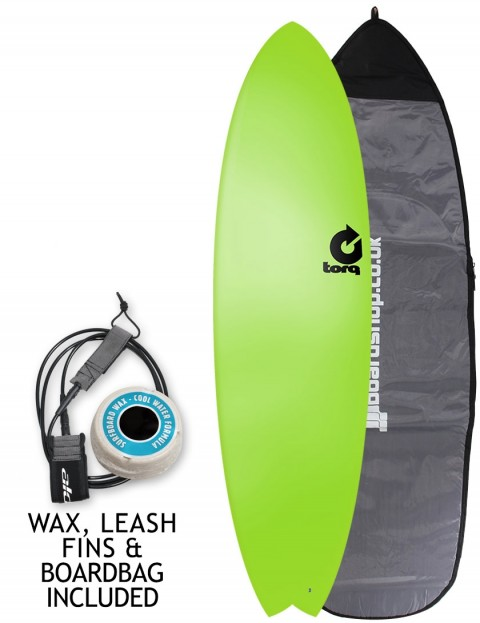 Torq Fish Soft & Hard surfboard 6ft 10 package - Green