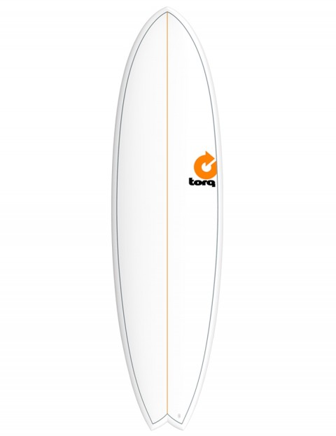 Torq Mod Fish surfboard 7ft 2 - White/Pinline