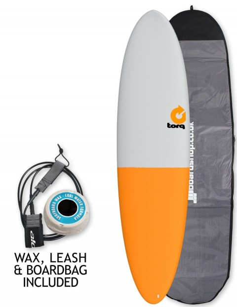 Torq Mod Fun surfboard package 7ft 2 - Grey/Orange Tail
