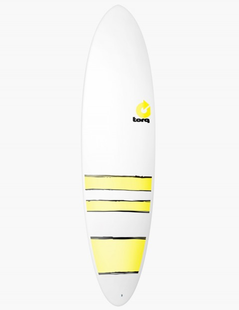 Torq Mod Fun surfboard 7ft 2 - Yellow Bands