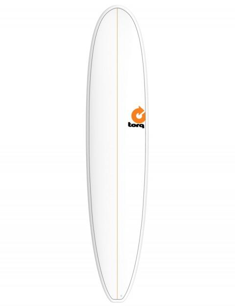 Torq Longboard Surfboard 9ft 0 - White/Pinline
