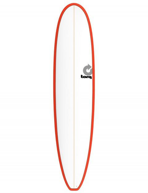 Torq Longboard surfboard 8ft 6 - Red/White Pinline