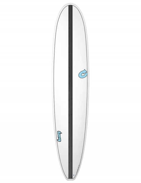 Torq Longboard Surfboard 9ft 0 - White/Carbon Strip