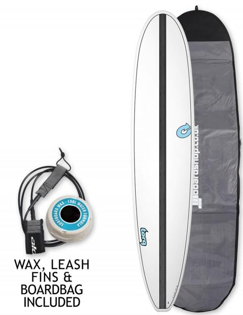 Torq Longboard Surfboard 9ft 0 Package White Carbon Strip
