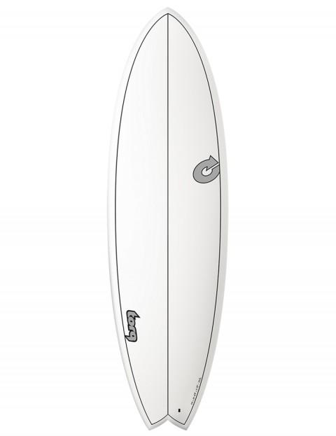 Torq Mod Fish surfboard 5ft 11 - White/Carbon Strip