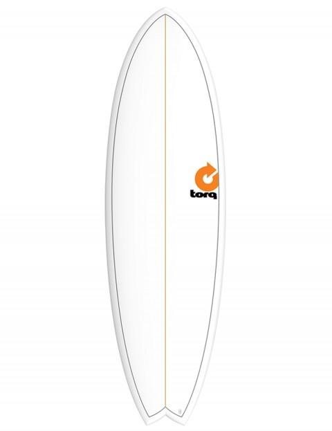 Torq Mod Fish surfboard 5ft 11 - White/Pinline
