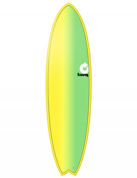 Torq Mod Fish surfboard 6ft 10 - Yellow/Green Fade