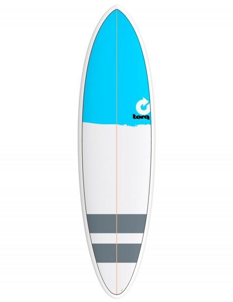 Torq Mod Fun surfboard 6ft 8 - Blue Nose/Stripes