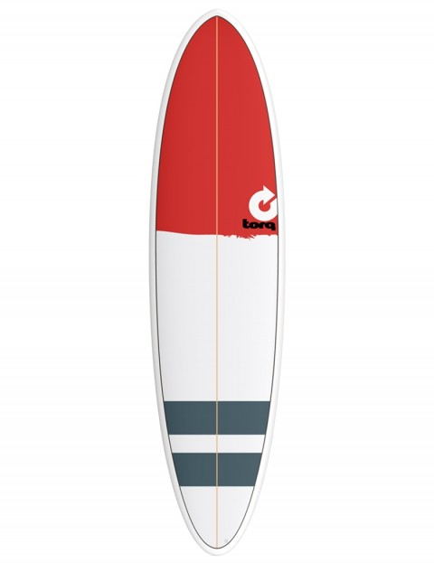 Torq Mod Fun surfboard 7ft 2 - Red Nose/Stripes