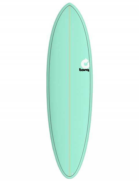 Torq Mod Fun surfboard 6ft 8 - Sea Green/Pinline