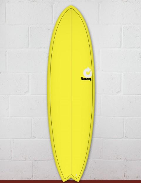 Torq Mod Fish surfboard 6ft 6 - Yellow Fade