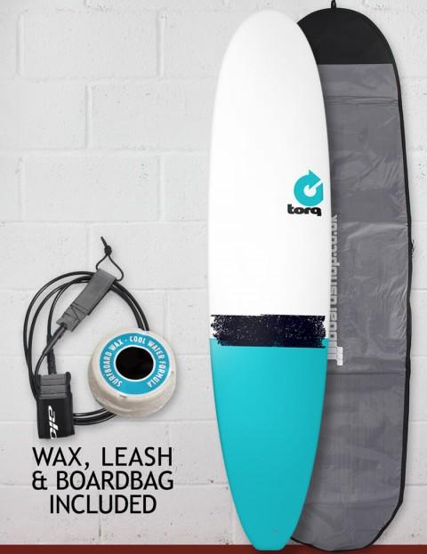 Torq Mini Long Surfboard package 8ft 0 - Blue Tail Dip