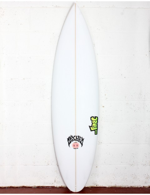 Lost Tube Pig surfboard 5ft 10 Futures - White