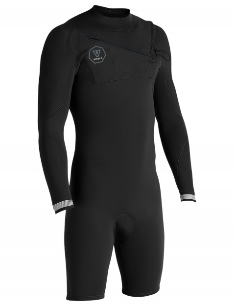 Vissla 7 Seas Long Sleeve Shorty 2/2mm wetsuit 2018 - Black Fade