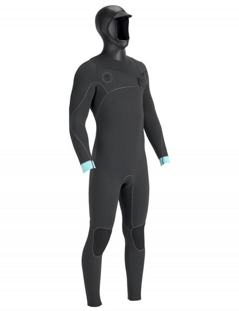 Vissla North Seas 5.5/4.5mm hooded wetsuit 2019 - Dark Grey Smoothy