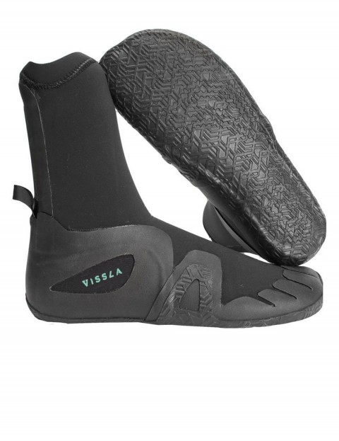 Vissla 7 Seas Round Toe 7mm wetsuit boot - Black