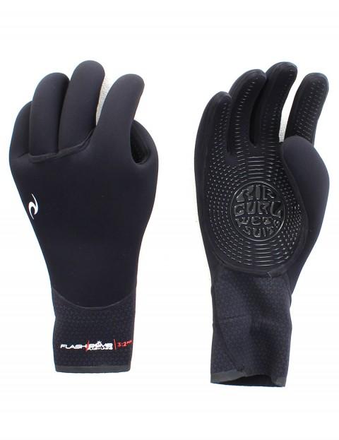 Rip Curl Flash Bomb 5 Finger 3/2mm Wetsuit Gloves - Black