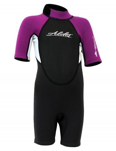 Alder Impact Girls Shorty 3/2mm wetsuit 2017 - Violet