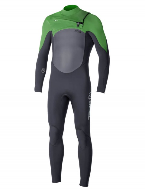 Xcel Infinity X2 Chest Zip 3/2mm Wetsuit 2016 - Black/Bright Green