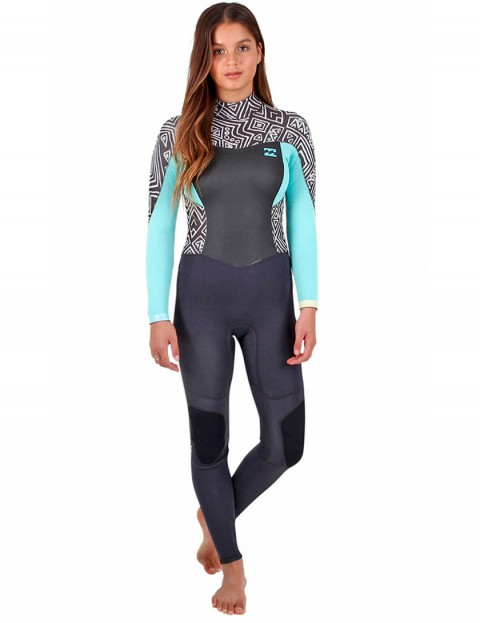 Billabong Ladies Synergy Back Zip 3/2mm Wetsuit 2017 - Geo Diamonds