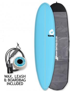Torq Mod Fun surfboard package 7ft 6 - Blue/Pinline