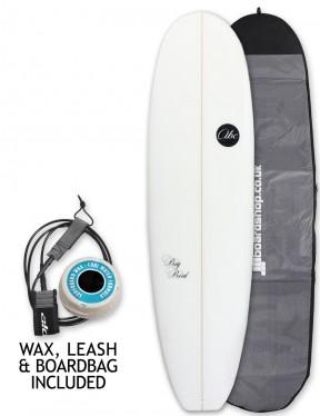 ABC Big Bird Mini Mal surfboard package 7ft 4 - White
