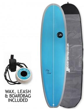 ABC Big Bird surfboard package 7ft 4 - Blue/Grey