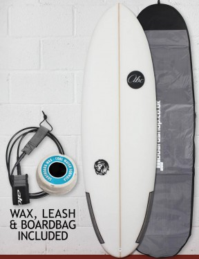 ABC Wild Cat surfboard package 6ft 1 - White