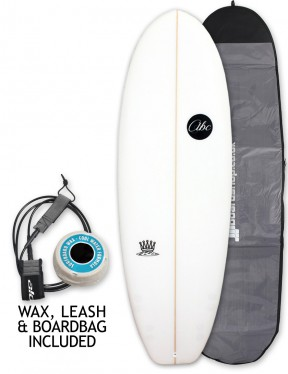 ABC Mash King surfboard package 6ft 2 - White