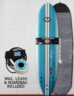 California Board Company Eighty Four Package Surfboard 7ft - Aqua Grain