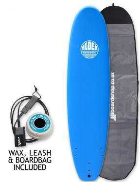 Alder Session Soft/Hard Mini Mal Surfboard Package 7ft 2 - Blue