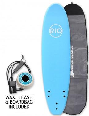 Alder Rio Soft Surfboard 7ft Package - Blue