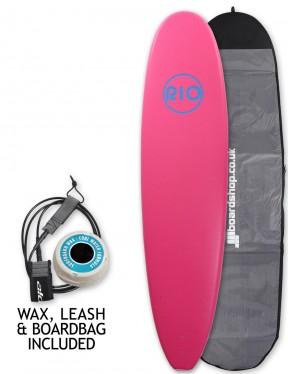 Alder Rio Soft Surfboard package 7ft 6 - Pink