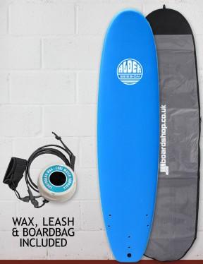Alder Session Soft/Hard Mini Mal Surfboard Package 7ft 2 - Blue