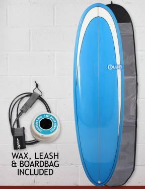Blue Dot Retro Rug Surfboard Package 6ft 6 - Blue