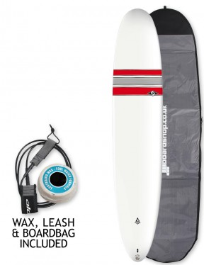 Bic Ace-Tec Noserider Longboard surfboard 9ft 4 package - Red