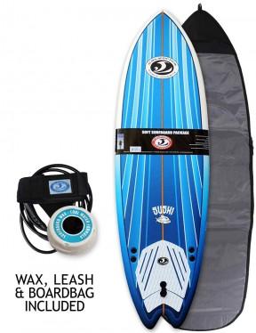 California Board Company Sushi Fish foam surfboard package 6ft 2 - Blue