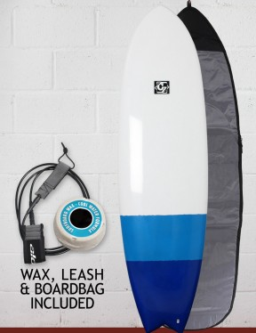 Cortez Fish surfboard package 6ft 0 - Blue Dip