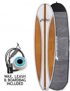 Cortez Fun Veneer surfboard package 7ft 2 - Beech