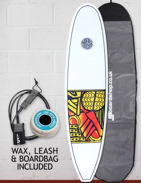 Cortez Funboard Surfboard Package 8ft 0 - Series 10 Yellow