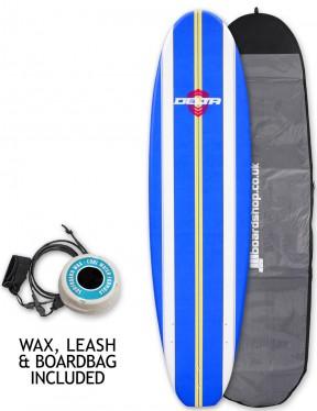 Alder Delta Stringers Soft surfboard package 7ft 6 - Blue Stripe