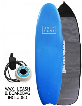 Hold Fast Fish Foam Surfboard Package 6ft 4 - Navy