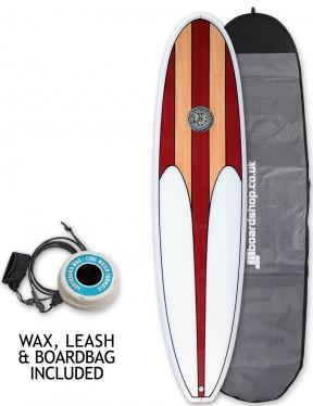 Hawaiian Soul Mini Mal surfboard package 8ft 0 - Cherry